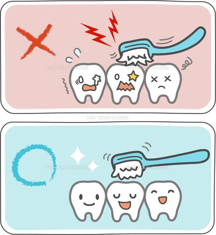 歯の磨き方の例の写真素材 [FYI00228365]