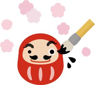 だるまさんと桜の写真素材 [FYI00228366]