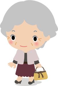 おしゃれして出かけるおばあさんの写真素材 [FYI00228380]