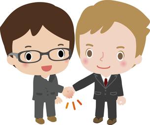 握手する国際的ビジネスマンの写真素材 [FYI00228405]