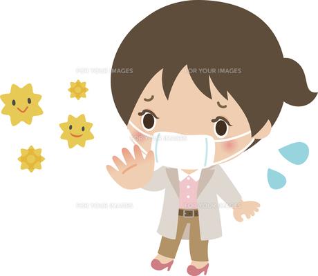 花粉の飛散を心配する若い女性の写真素材 [FYI00228406]