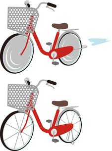 赤い自転車の写真素材 [FYI00228418]