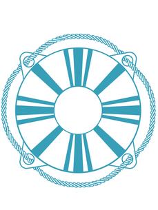 浮き輪マークの写真素材 [FYI00228461]