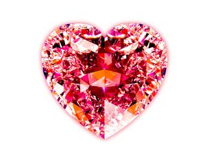 ハートシェイプ・ダイヤモンド (赤)の写真素材 [FYI00228472]