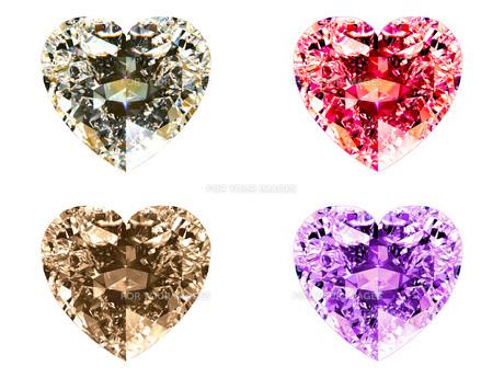 ハートシェイプ・ダイヤモンド (4色)の写真素材 [FYI00228474]