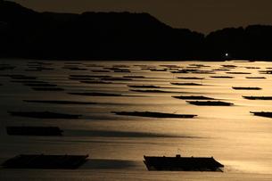月明かりの瀬戸内、虫明湾の写真素材 [FYI00228758]