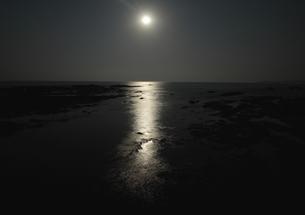 月明かりの和歌山、枯木灘海岸の写真素材 [FYI00228803]