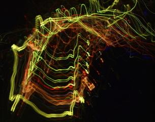 極彩細色図「はしご」の写真素材 [FYI00229554]