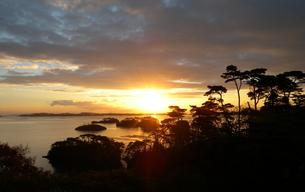 日本三景松島の夜明けの素材 [FYI00229610]