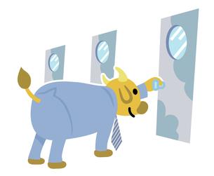 牛キャラクター1の写真素材 [FYI00229783]