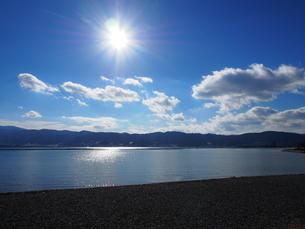 諏訪湖の写真素材 [FYI00230130]