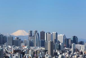 東京都心から富士山を望むの写真素材 [FYI00230210]