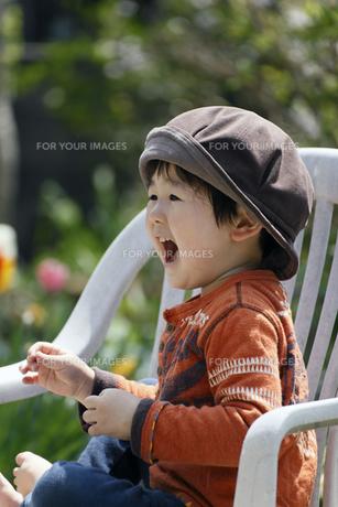 喜ぶ男の子の写真素材 [FYI00230516]