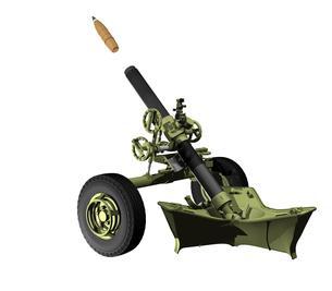 重迫撃砲の写真素材 [FYI00230689]