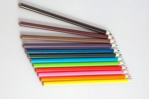 12色の色鉛筆の写真素材 [FYI00230691]