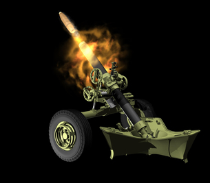 重迫撃砲の写真素材 [FYI00230693]