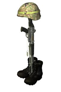 兵士の墓標の写真素材 [FYI00230700]