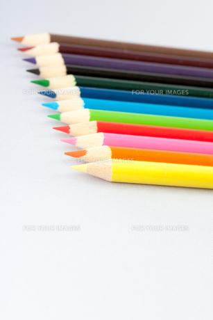 12色の色鉛筆の写真素材 [FYI00230711]