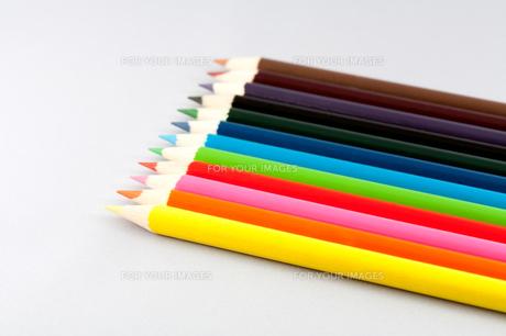12色の色鉛筆の写真素材 [FYI00230718]
