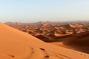 夕暮れのサハラ砂漠の写真素材 [FYI00230772]