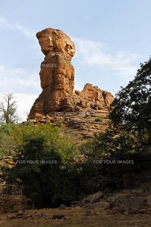 マリの世界遺産、バンディアガラの奇岩の写真素材 [FYI00230808]