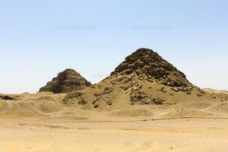 ウセルカフ王のピラミッドの写真素材 [FYI00230900]