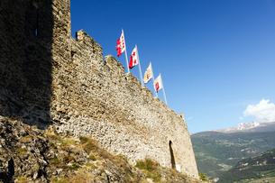 トゥールビヨン城の外壁 の写真素材 [FYI00230928]