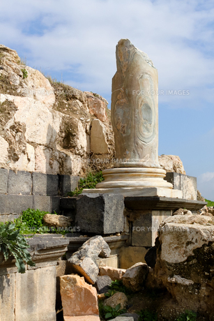 古代遺跡の柱脚の写真素材 [FYI00230995]
