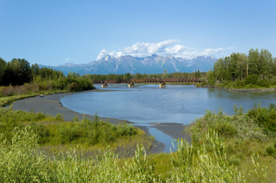 アラスカ、ニック川の河川敷の写真素材 [FYI00230997]