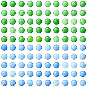 100種類のグリーンと水色のボタンの写真素材 [FYI00231005]