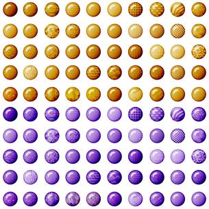 100種類のブラウンとパープルのボタンの写真素材 [FYI00231024]