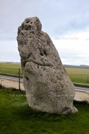 イギリス世界遺産 ストーンヘンジの石柱の写真素材 [FYI00231086]