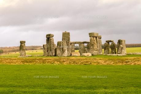 イギリス世界遺産 ストーンヘンジの写真素材 [FYI00231088]