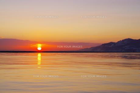 小樽の日の出の写真素材 [FYI00231236]