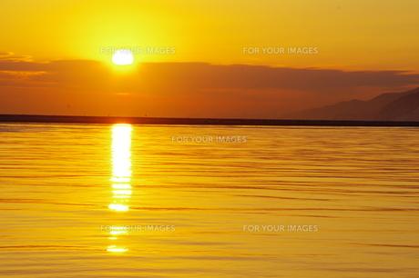 小樽の日の出の写真素材 [FYI00231247]
