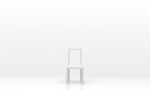 白い椅子の写真素材 [FYI00231444]