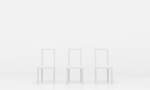 白い椅子の写真素材 [FYI00231449]