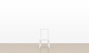 白い椅子の写真素材 [FYI00231452]