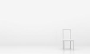 白い椅子の写真素材 [FYI00231453]