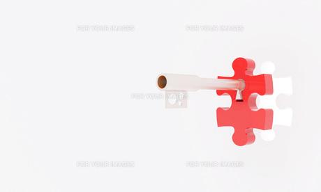 鍵とパズルの写真素材 [FYI00231523]