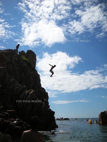 飛び込みの瞬間の写真素材 [FYI00231792]