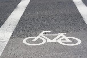 自転車用交通標識の写真素材 [FYI00232265]