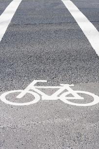 自転車用交通標識の写真素材 [FYI00232273]