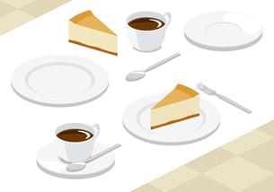 チーズケーキ・コーヒーの写真素材 [FYI00232327]