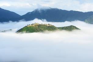 雲海に浮かぶ竹田城跡の写真素材 [FYI00232947]