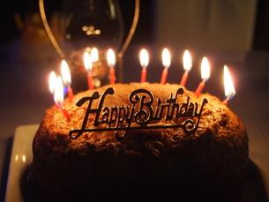 バースデーケーキの写真素材 [FYI00233927]