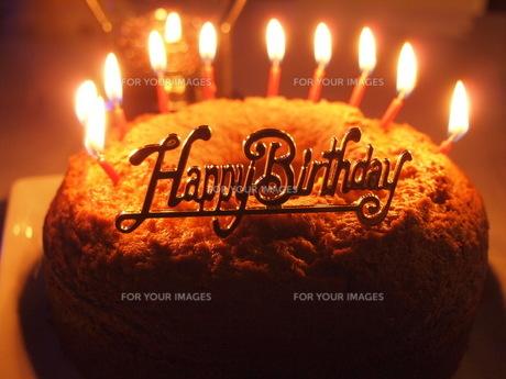 バースデーケーキの写真素材 [FYI00233928]