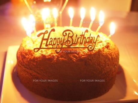 バースデーケーキの写真素材 [FYI00233933]