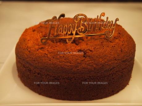 バースデーケーキの土台の写真素材 [FYI00233934]