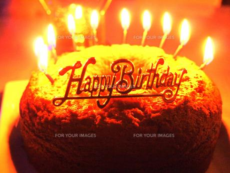 バースデーケーキの写真素材 [FYI00233939]